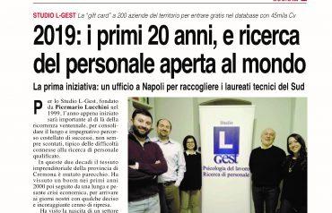 2019: i primi 20 anni e ricerca del personale aperta al mondo
