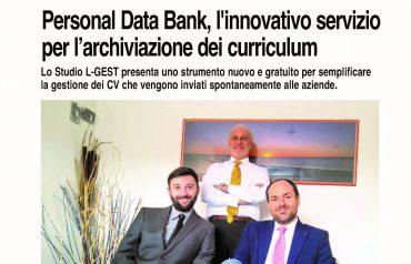 Personal Data Bank, l'innovativo servizio per l'archiviazione dei curriculum